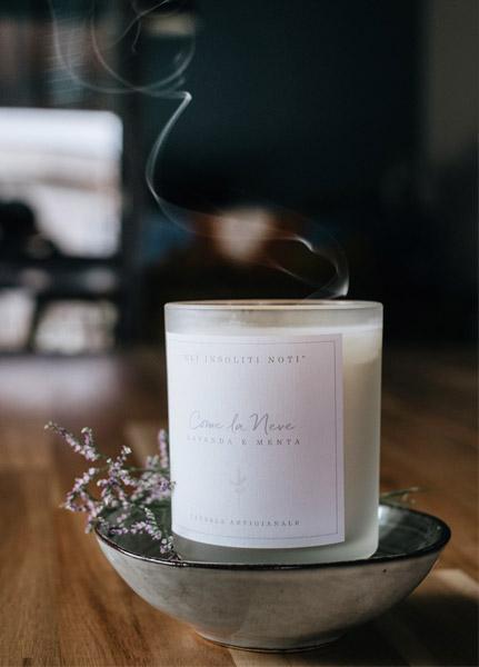 candele artigianali profumate naturali